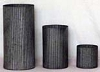 Cobblestone Set of 3 Ribbed Tube Vases