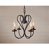 Small Georgetown Chandelier in Textured Black