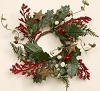 Wreath - Winter Greens & Rusty Stars