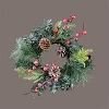 Candle Ring - Glittered Evergreens, Cones & Berries