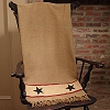 Khaki Barn Star Throw