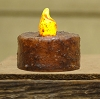 Burnt Mustard Switch Tealight - Battery Operated