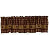 Cranberry Country Star Lined Valance (72x14