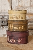 Nesting Boxes - Mini Faith Hope Love