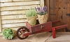Wooden Wheelbarrow - Red