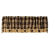 Black Farmhouse Star Valance (72x14