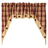 Burgundy Farmhouse Star Swag (72x36
