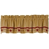 Primitive Star Vine Cotton Burlap Valance