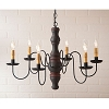 Gettysburg Chandelier in Hartford Blk w/Red Stripe
