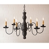 Gettysburg Chandelier in Hartford Black over Red