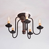 Berkshire Ceiling Light in Sturbridge Black w/Red