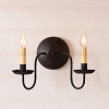 Ashford Wall Sconce in Black over Red