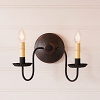 Ashford Wall Sconce in Espresso with Salem Brick