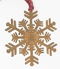 RUST SNOWFLAKE ORNAMENTS W/HANGER S/6