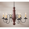 Lg Norfolk Chandelier in Hartford Red over Black