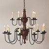 Harrison Two Tier Chandelier in Plantation Red