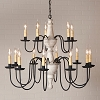 Harrison Two Tier Chandelier in Vintage White