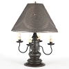 Harrison Lamp Base in Americana Black