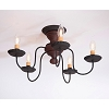 Thorndale Ceiling Light in Hartford Red over Black