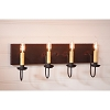 Four Arm Vanity Light in Hartford Blk w/Red Stripe