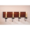 Four Arm Vanity Light in Hartford Red w/Blk Stripe