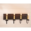 Four Arm Vanity Light in Black