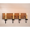 Four Arm Vanity Light in Pearwood