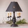 Jamestown Lamp Base in Hartford Black over Red