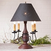 Jamestown Lamp Base in Hartford Red w/Black Stripe