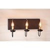 Three Arm Vanity Light in Hartford Rd w/Blk Stripe