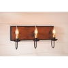Three Arm Vanity Light in Hartford Pumpkin