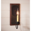 Wilcrest Sconce in Espresso with Salem Brick