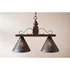 Wellington Medium Hanging Light in Espresso with Salem Brick