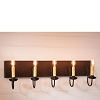 Five Arm Vanity Light in Black