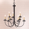 9-Arm Rustic Chandelier in Textured Black