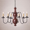 Large Chesterfield Chandelier in Americana Red