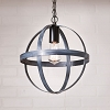 12-Inch Strap Sphere Pendant in Black
