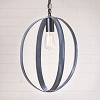 16-Inch Oval Sphere Pendant in Black
