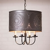 Drum Chandelier in Kettle Black
