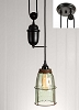 Half Gallon Caged Mason Jar Pulldown Pendant Lamp