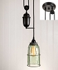 Half Gallon Caged Mason Jar Pulldown Pendant Lamp - Barn Roof