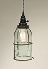 Half Gallon Caged Mason Jar Pendant Lamp - Green/Rust