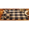 Black Check Cotton Burlap Placemat (13x19