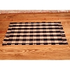 2 x 3.5 ft Black Check Rug