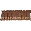 Colonial Burgundy Star Valance