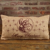 Small Burlap Vintage Santa Pillow