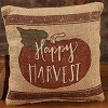 Small Burlap Happy Harvest Pillow