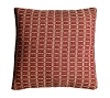 PREACHERS KNOT PILLOW CRANBERRY/TAN