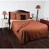 Marshfield Jacquard Bedcover King Barn Red