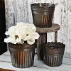 SET OF 3 OLD TIN POTS